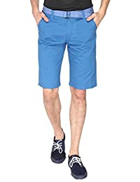 Campus Sutra Solid Men's Chino Shorts-Blue
