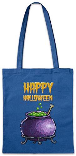 Urban Backwoods Pixel Happy Halloween Hipster Bag Beutel Stofftasche Einkaufstasche