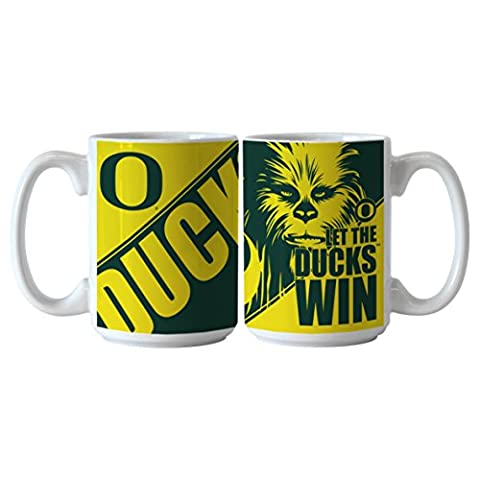 NCAA Oregon Ducks Star Wars Sublimated Coffee Mug, 15-ounce, 2-Pack