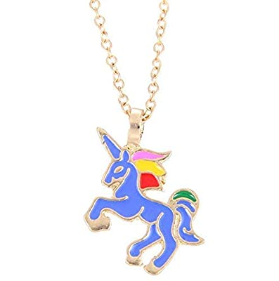 Mio.oo Women Girls Unicorn Pendant Alloy Chain Necklace Jewelry Accessories Gift, Silver Color : everything 5 pounds (or less!)