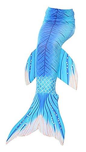 JameStyle26 Mädchen Kinder & Erwachsene Meerjungfrau Cosplay Kostüm Bademode Badeanzug Bikini Fisch Schuppe (Türkis, Größe M)