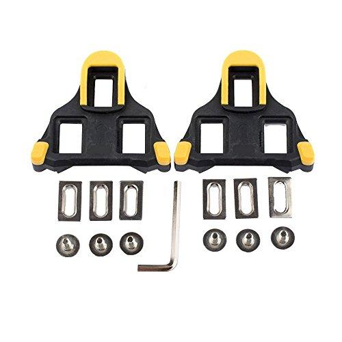 hothuimin Bike tacchetti autobloccante ciclismo bicicletta tacchette compatibili con Shimano & look # 1-009, Yellow