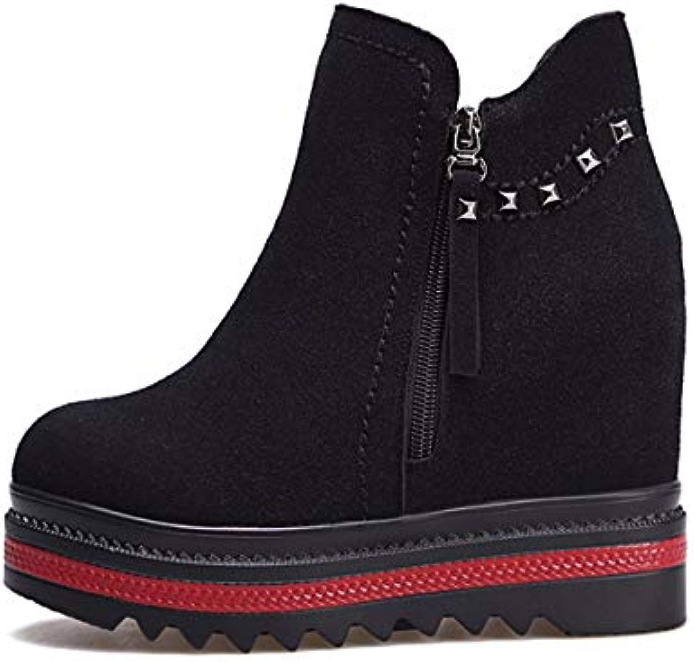 KPHY Chaussures Femmes Martin Bottes Court Bottes Version Coréenne avec  avec Coréenne 5 Mètres De c834be075ca