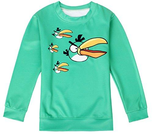 Thenice - Sweat-shirt spécial grossesse - Imprimé Animal - Col Rond - Femme Taille Unique oiseaux