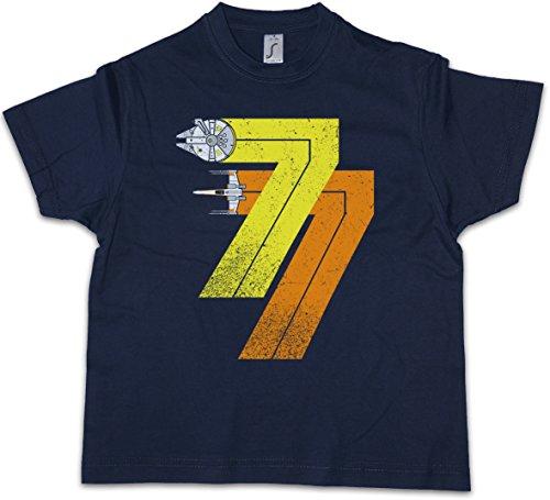 Urban Backwoods Vintage Rebel Born 77 Jungen Kinder Kids T-Shirt Blau Größe 10 Jahre