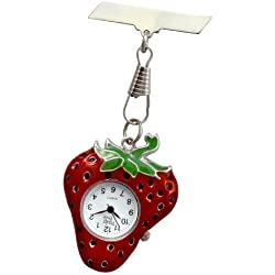 Strawberry Fob Watch Great Midwife Nurse Gift Present