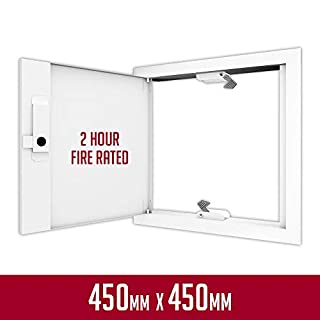 FlipFix Metal Faced Access Panel with Picture Frame Surround - 2 Hour Fire Rated (450x450mm) - The UK's No 1 Access Panel Now Available from Amazon