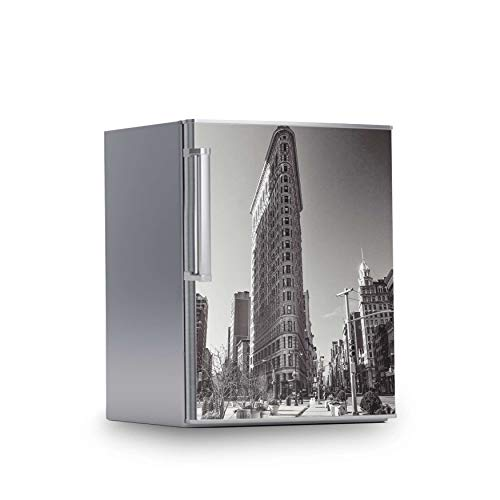 Dekoaufkleber Kühlschrank 60x80 cm I Kühlschranktür Klebetapete Folie Sticker Aufkleber kreative Wohnideen Riesen Poster Kühlschrank I Design Motiv Manhattan -