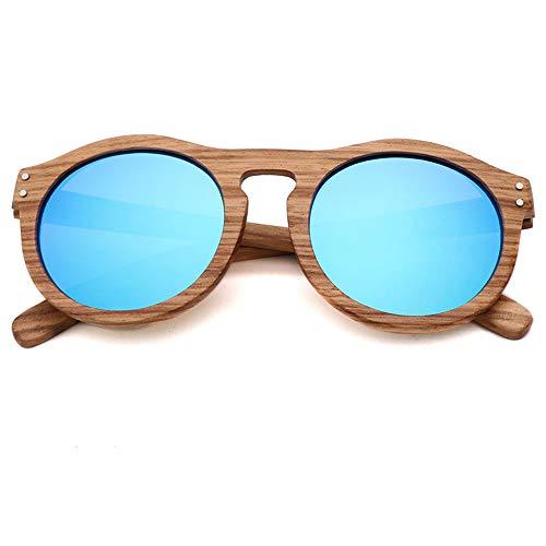 DelongKe Retro Sonnenbrille Rot Klassisch Oval Ultraleicht Vintage Half Rim,Funktion UV-Schutz Für Fahren Golf Outdoor Freizeit,Blue