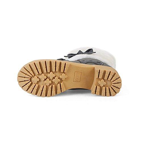 Desconocido 1to9mns02578 - Sandalias De Cuña Gris Para Mujer