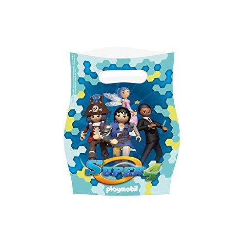 Amscan-9900182-8bolsas fiesta Playmobil