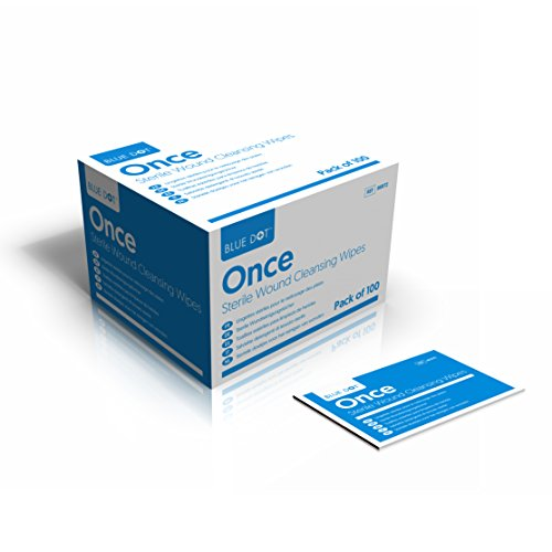 ine Moist Cleansing Wipes Individually Wrapped for First Aid Kit Refills by Blue dot ()
