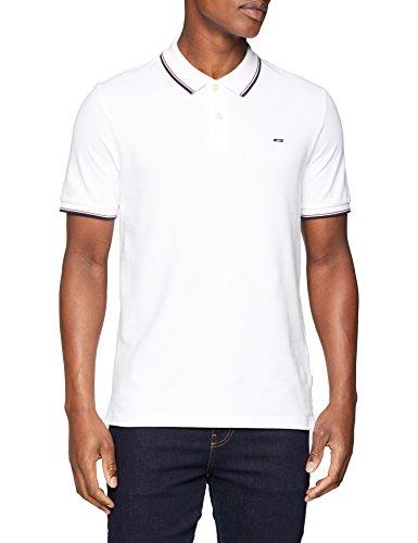 JACK & JONES Herren Poloshirt Jjecontrast Stripe Polo SS Noos, Weiß (White Detail: Slim Fit), X-Small (Jersey-weiß Polo-shirt)