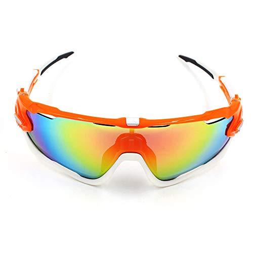 H.Y.F Sport-Sonnenbrille Mountainbike Fahrrad Winddicht im Freien für Männer und Frauen (Color : 2, Size : One Size)