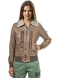 Aeronautica Militare Femmes Veste en cuir Brun PN743D1839-00061