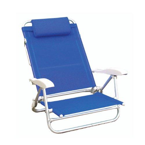 Papillon sedie in alluminio con braccioli e poggiatesta copertura textile'ne playa