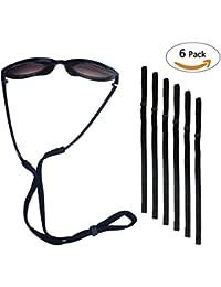 Philonext 6 Pcs Deportes gafas de sol soporte correa, Universal Fit cuerda retención, sistema