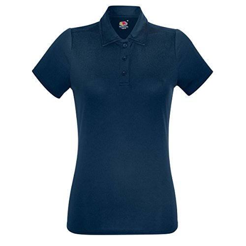 Fruit Of The Loom - Polo sport - Femme Noir