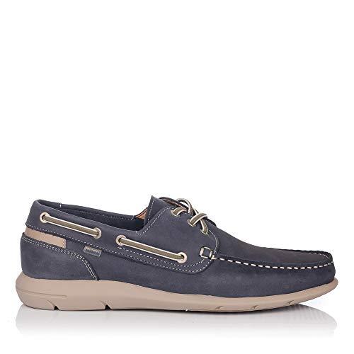 BAERCHI 7950 Zapato Nautico Piel Hombre Azul 41