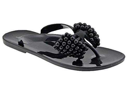 Jay.peg 26116 Pearl Flip Flops Nouvelle Femme Noire Chaussures