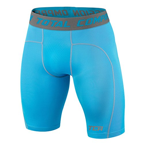 Mens & Boys TCA Pro Performance Compression Base Layer Thermal Under Shorts - Sky - L