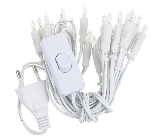 VBS Mini-Lichterketten mit Schalter, weiß 20er, weiß