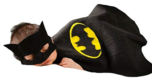 Baby Neugeborenes Baby Mädchen Kostüm Outfits Fotografie Requisiten Batman Patch+Umhang+Wickeltuch 0-3 ()