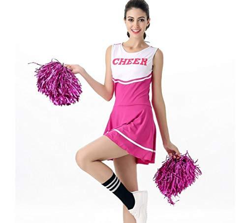 Cheerleader Uniform Kostüm Outfit, Spiel Rollenspiele, Erwachsene Dame sexy Baby Cheerleading Kostüm,Pink (Für Erwachsene Cheerleader-outfit)