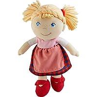 HABA 303150 - Puppe Greta | Weiche Stoffpuppe zum Spielen und Kuscheln | Babys erste Puppe aus angenehm weichen Materialien | Geschenk zur Geburt oder Taufe