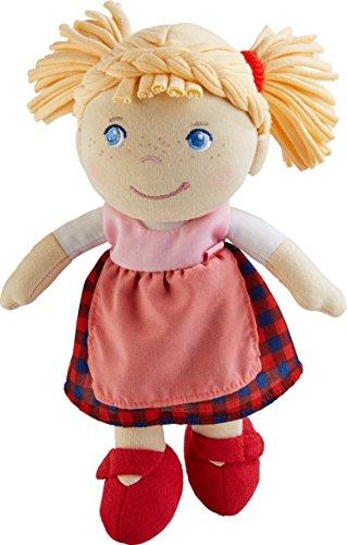 HABA 303150 - Puppe Greta | Weiche Stoffpuppe zum Spielen und Kuscheln | Babys erste Puppe aus angenehm weichen Materialien | Geschenk zur Geburt oder Taufe (Puppen Für Kleinkinder)
