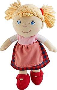 HABA 303150 - Muñeca Greta | Muñeca de trapo suave para jugar y abrazar | La primera muñeca del bebé hecha de materiales blandos | Regalo para parto o bautizo