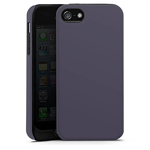 Apple iPhone X Silikon Hülle Case Schutzhülle Dunkelgrau Grau Grey Tough Case matt