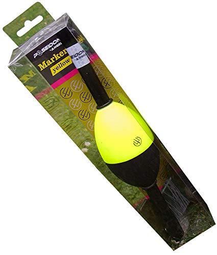 Poseidon Markerboje Coloured 28cm - Marker Boje zum Markieren des Spots beim Karpfenangeln, Markerpose zum Angeln auf Karpfen, Poseidon Farbe:Yellow - Angeln Boje