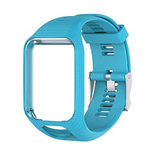 BEARCOLO Armband aus weichem Silikon, kompatibel mit Tomtom Runner 2/3 Serie, Spark/3 GPS-Armbanduhr, Ersatzarmband