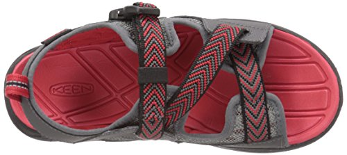 Keen Rock Iguana - Tongs Enfant - gris/rouge 2016 tongues Magnet-Racing Red