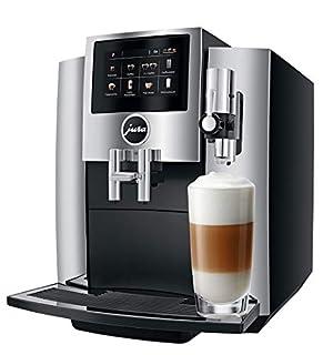 JURA S8 Independiente Máquina espresso Negro, Cromo 1,9 L 16 tazas Totalmente automática - Cafetera (Independiente, Máquina espresso, 1,9 L, Molinillo integrado, 1450 W, Negro, Cromo) (B076BV4D7S) | Amazon Products