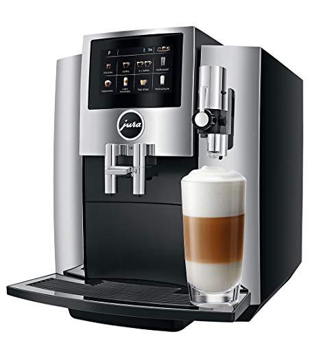JURA S8 Independiente Máquina espresso Negro, Cromo 1,9 L 16 tazas Totalmente automática - Cafetera (Independiente, Máquina espresso, 1,9 L, Molinillo integrado, 1450 W, Negro, Cromo)