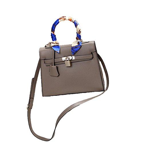 FZHLY La Moda In Europa E Lo Stile Degli Stati Uniti Borsa Messenger Bag Lady Lock,DeepWineRed Khaki