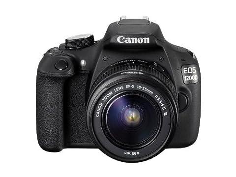 Canon EOS 1200 D, appareil photo reflex numérique avec objectif EF-S 18–55 mm f/3. 5–5.6 III
