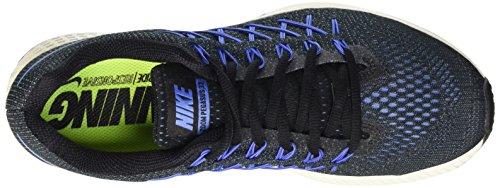 Nike Air Zoom Pegasus 32, Chaussures de Running Entrainement Femme Noir (Black/Chalk Blue/Racer Blue 004)