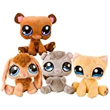 Pet Shop 24cm Nylex - Pack inlcuye 4 peluches