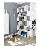 Habitdesign - Estantería Decorativa para salón, Comedor y habitación, Medida 145 x 145 x 29 cm de Fondo