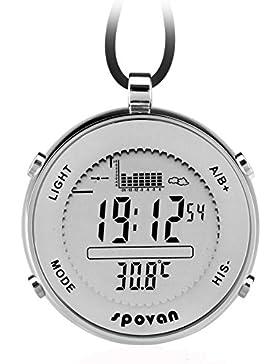 Taschenuhr Digitaluhr Sport Outdoor Herrenuhr Altimeter Barometer Thermometer Angeln Quarz Silber Findtime