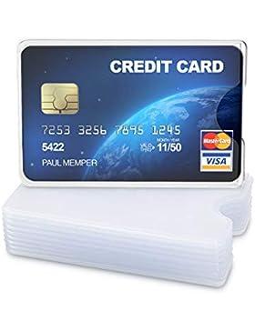 kwmobile 10x Funda Protectora Tarjeta de crédito y débito - Cubierta de protección para Tarjetas - Tarjetero Individual...