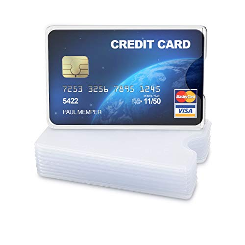 kwmobile 10x Kreditkarten Karten Schutzhülle - 10er Set Hülle für Kreditkarte EC-Karte Krankenkarte Kartenschutzhülle in Matt Transparent