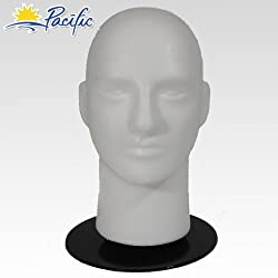 A1Pacific Male MANNEQUIN head with holder base display wig hat glasses
