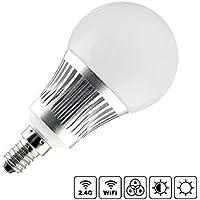Bombilla LED WiFi E14 Bulb 5W RGB+CCT + Blanco Dual (Cálido + Frío), Regulable