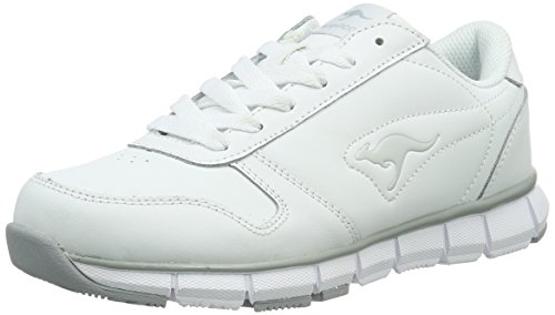 KangaROOS Unisex-Erwachsene K-Bluerun 700 B Low-Top Weiß (White/Lt Grey 002)