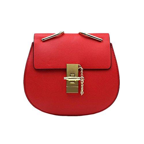Borsa A Tracolla Borsa A Tracolla Messenger Bag Semplice Borsa Moda Casual Atmosfera Selvaggia Red