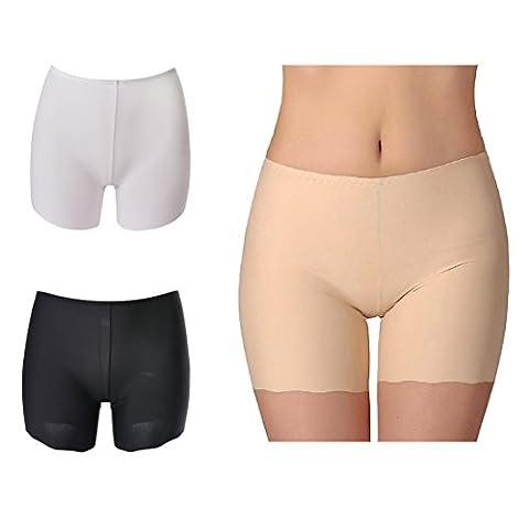 Vertvie Femme Sous-vêtement Boxer Slip Culotte de Sécurité Invisible Soie